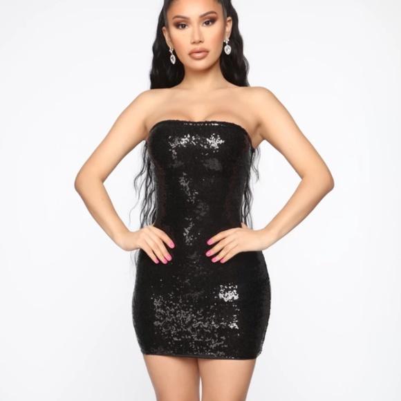Fashion Nova Dresses & Skirts - Fashionnova black sequin tube dress